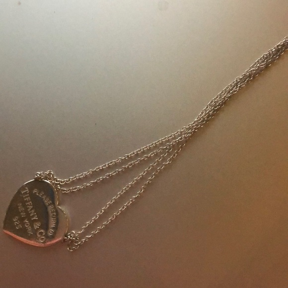 Tiffany co jewelry double chain tiffany heart necklace poshmark double chain tiffany heart necklace aloadofball Images